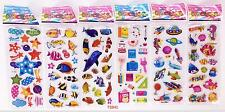 Children stereoscopic 3D cartoon fish puffy stickers 6 sheets / lot kids gift