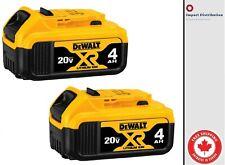 DEWALT DCB204-2 20-Volt MAX XR Li-Ion 4.0 Ah Battery  [2 PACK]