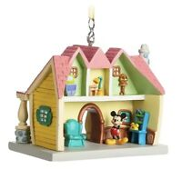 Disney Parks Mickey Mouse Toontown House Miniature Christmas Ornament New