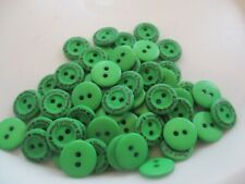 LOT OF 60 GREEN COLOR with FRIEND OF THE HEART 2 HOLE 11/16 INCH BUTTONS, NEW