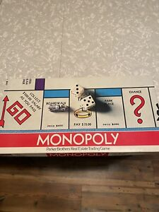 Vintage 1973 Monopoly Board Game Pre Owned Complete!