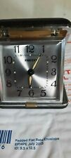 Vintage Equity travel alarm clock. Tested and working very nice
