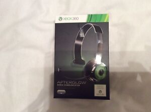 XBOX360 PDP Afterglow Wired Communicator Blue Or Green. Color Will Vary.