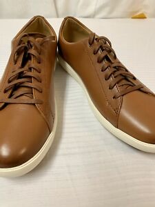 COLE HAAN GRAND.0S: CASUAL SHOE TAN LEATHER LOW TOP SNEAKER 11 MSRP: $150 NWT