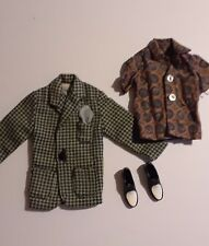 1960s Ken Jacket Shirt Shoes Sports Coat Loafers Dress Outfit 4 pcs Vintage