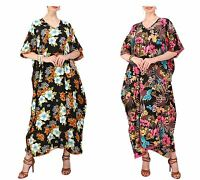 Miss Lavish Women Kaftan Tunic Kimono Dress Summer Beach Cover Up Plus Size Maxi