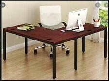 SHW L-Shaped Home Office Desk - Espresso