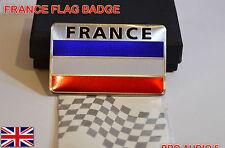 Badge DRAPEAU FRANCE VOITURE-boot corps en aluminium brossé-français fourgon badge-UK