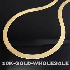 "NEW 10K YELLOW GOLD 24"" INCH 6 MM HERRINGBONE NECKLACE MENS LADIES CHAIN 4487"