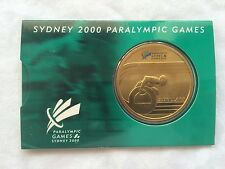 2000 Sydney Paralympics Olympic 5$ Five Dollar Bronze Coin on Card