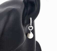 Luxus Ohrringe Ohrhänger Perlen Zirkonia silber 750er Weißgold 18 K vergoldet