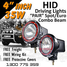 HID Xenon Driving Lights - 4 Inch 35w Spot/Euro Combo 4x4 4wd Offroad 12v 24v