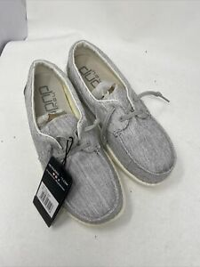 HEY DUDE LILY CHAMBRAY Linen Grey  WOMEN'S SHOES sz 9 (pc53)
