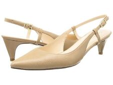 Cole Haan Juliana Low Slingback 45 Sandstone Nude Lizard Print Pumps USA 5.5 New