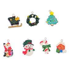 14PCs Nice Mixed Resin Pendants Christmas Charms Ornaments