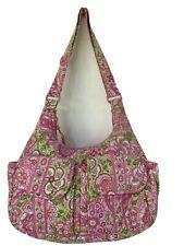NWOT VERA BRADLEY Large BAG HANDBAG SHOULDER PINK FLORAL FABRICK SUMMER