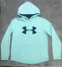 Used Women's Under Armour Cold Gear Baby Blue Sweatshirt Sz Xs/Tp/Ech
