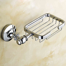 Chrome Plated Brass Bathroom Shower Soap Basket Wall Mounted Soap Dish Holder
