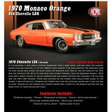 ACME DIECAST METAL 1:18 SCALE MONACO ORANGE 1970 CHEVROLET CHEVELLE SS454-LS6