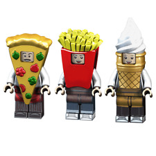 3pcs/set Cartoon Food Building Blocks Bricks Figures Model Assembled Toys