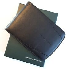 Pininfarina Card Wallet Black Leather Made In Italy