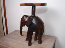 Vintage Teak Elephant Table/Stool