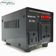 SevenStar St-100W Watt 110V to 220V Step Up/Down Transformer Voltage Converter