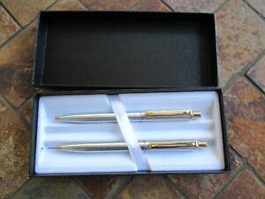 Vintage Sheaffer White Dot Ballpoint pen & Mechanical Pencil Set, OB