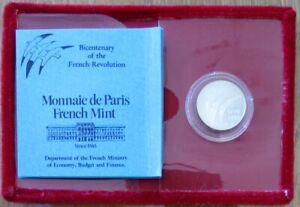 0283 - MÉDAILLE BICENTENAIRE DE LA REVOLUTION FRANCAISE - JM. Folon - argent