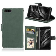 Retro Frosted Leather Flip Wallet Card Clip Soft Stand Cover Case For Various