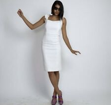 NWT MIGUELINA EDDIE White Twill Fitted BodyCon Dress Small