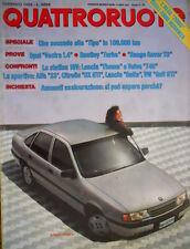 Quattroruote 400 1989 Nuova Ford Fiesta. Prove Bentley Turbo. Opel Vectra [Q.56]