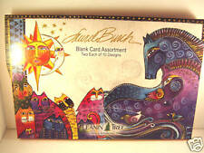 Laurel Burch Animal Blank Card Assortment 20 Glossy Deluxe Cards NIB