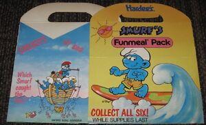 1990 Smurfs Hardees Funmeal Box - RARE!!