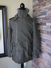 Superdry Regiment MILITARY WINTER wool Coat British STYLE US MEN'S S-M COOL!!