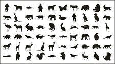 60 Animal Nail Art Tattoo Transfer Stickers