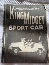 King Midget Sport Car Pamphlet 32 Pages and Flyer 1956