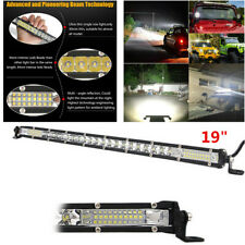 "1X Waterproof 19"" Single Row LED Work Light Bar White 30000LM Fit Car Off Road"