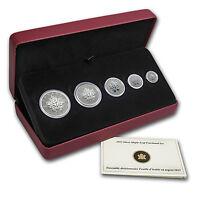 2013 Canada 5-Coin Silver Maple Leaf 25th Anniversary Set