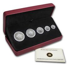 2013 Canada 5-Coin Silver Maple Leaf 25th Anniversary Set - SKU #72412