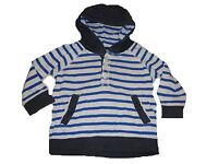 H & M tolles Kapuzen Langarm Shirt Gr. 74 blau-weiß gestreift !!