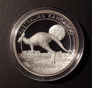 2015 Australian Proof Kangaroo High Relief Silver Coin 1 Oz.