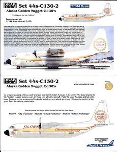 Dessin Décalque Alaska Doré Pépite C-130 Hercules Décalques 1/144 44s-C130-2