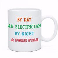 Funny Coffee Tea Electrician Sparky Tea Coffee Mug Cup Gift Present Idea
