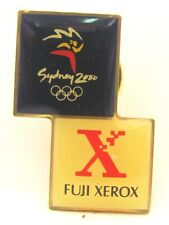FUJI FILM XEROX SQUARES LOGO SYDNEY OLYMPIC GAMES 2000 PIN BADGE COLLECT #116