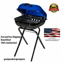 Aussie 21.25-in Kobalt Blue Kettle Charcoal Outdoor Grill Bar-B-Que BBQ NEW