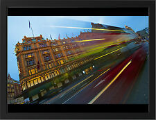 LONDON TRAFFIC LIGHT TRAIL NEW A3 FRAMED PHOTOGRAPHIC PRINT POSTER