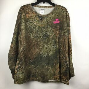 Mossy Oak Brush Camouflage Long Sleeved Tee Top Size 2XL NWT