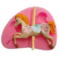 Carousel Horse Silicone Fondant Mold Cake Decor Chocolate Gum Baking Mould v