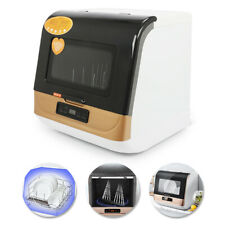 3 Programmes Dishwasher with Lcd Display Compact for Glassware Wooden